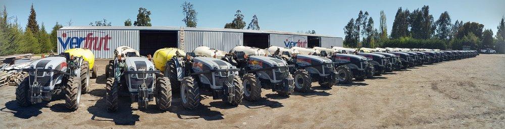 Entrega de Tractores Carraro a Verfrut.   Transvichuquen hace la entrega de una flota de más de 200 tractores Carraro a la empresa Verfrut para sus operaciones de Chile y Perú.