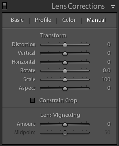 Lightroom 5.6 Lens Correction Panel