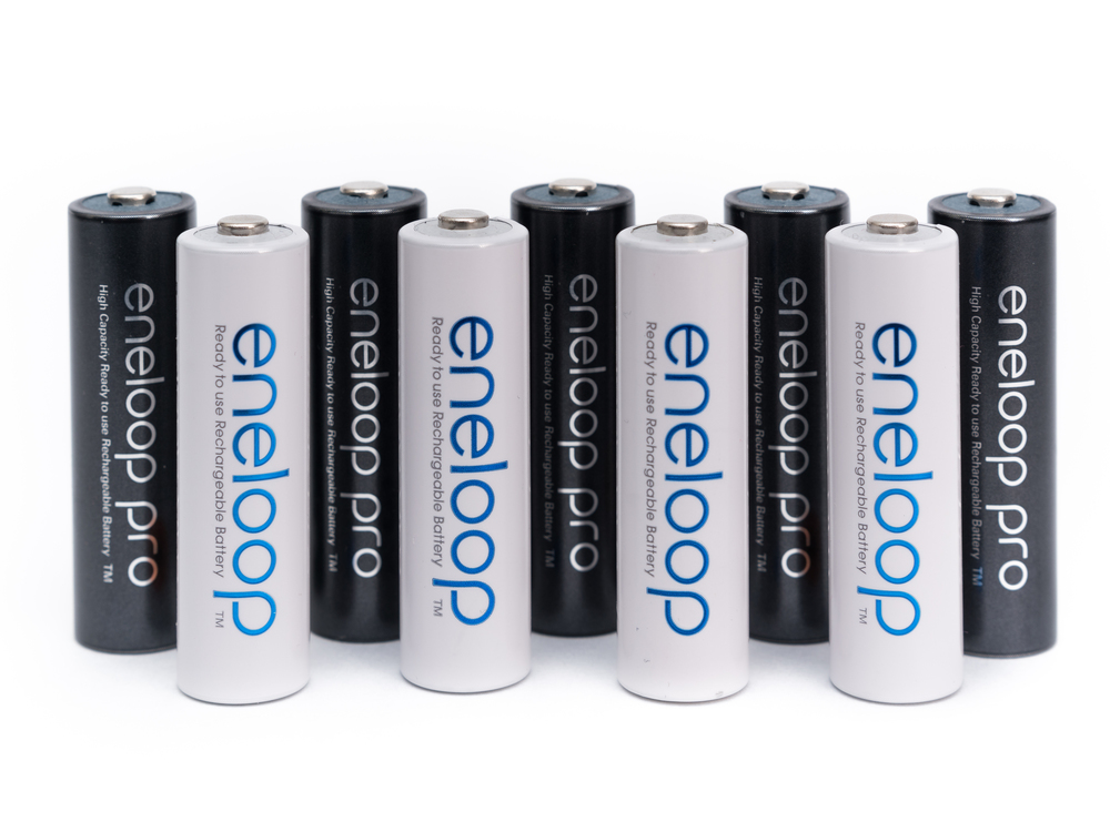 Drew Gray Eneloop NiMH rechargeable batteries for speedlites and flashes.