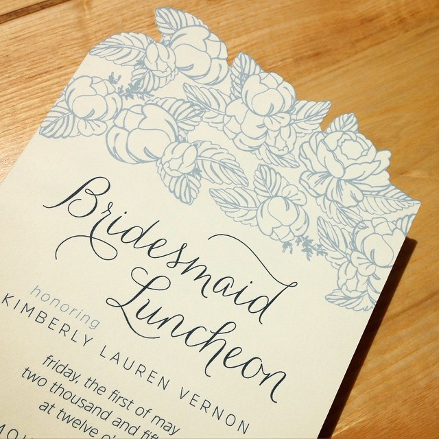 Made this small batch, custom cut invitation right in my own studio. Obsessed!!! #custominvitations