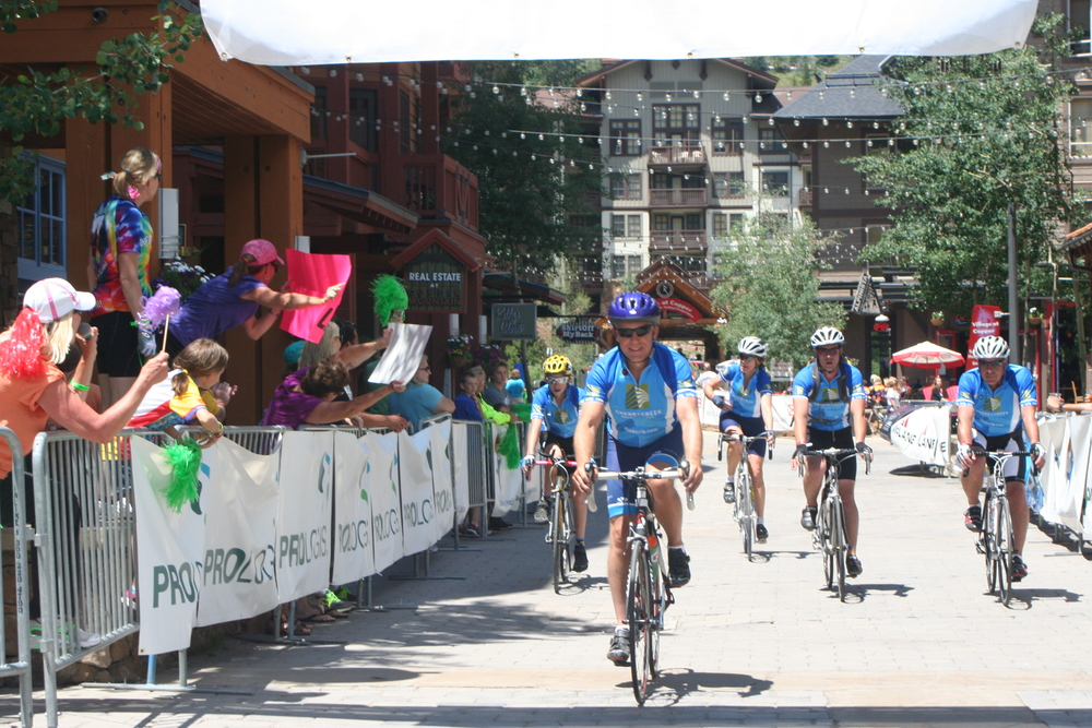 Members of the Cherry Creek Insurance Group team riding in the 2013 Courage Classic.
