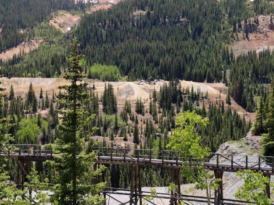Old railroad trestles