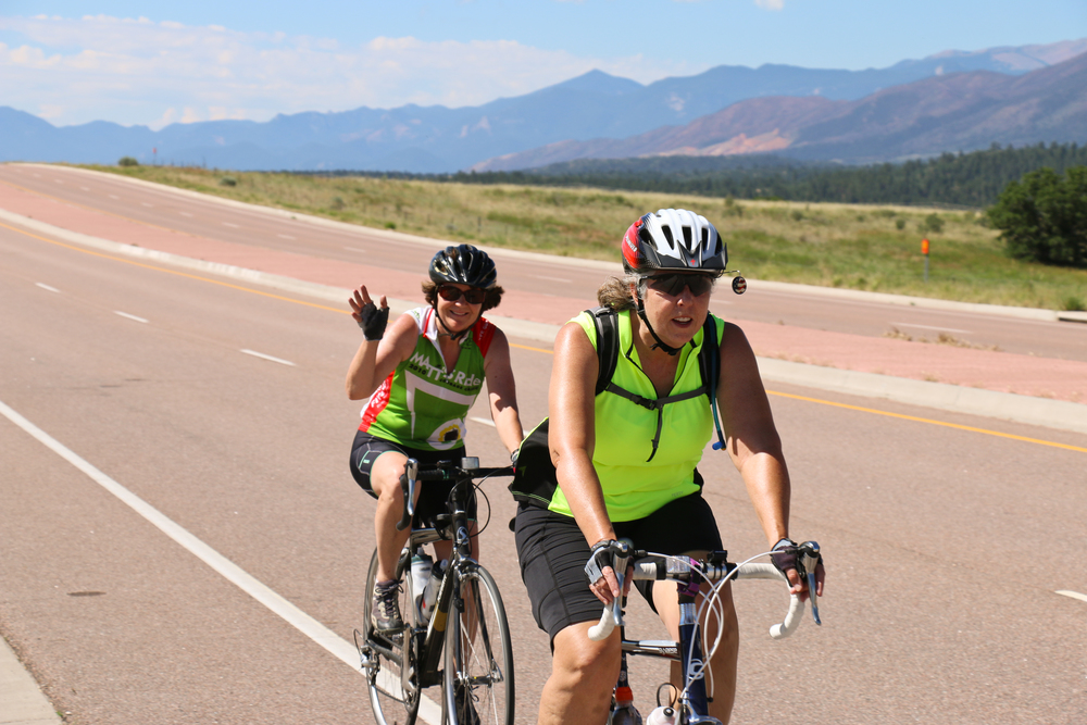 Looking strong—these two will do 40 miles