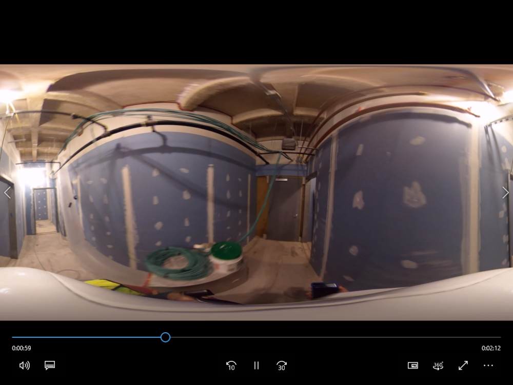 Equirectangular Video in Windows Viewer