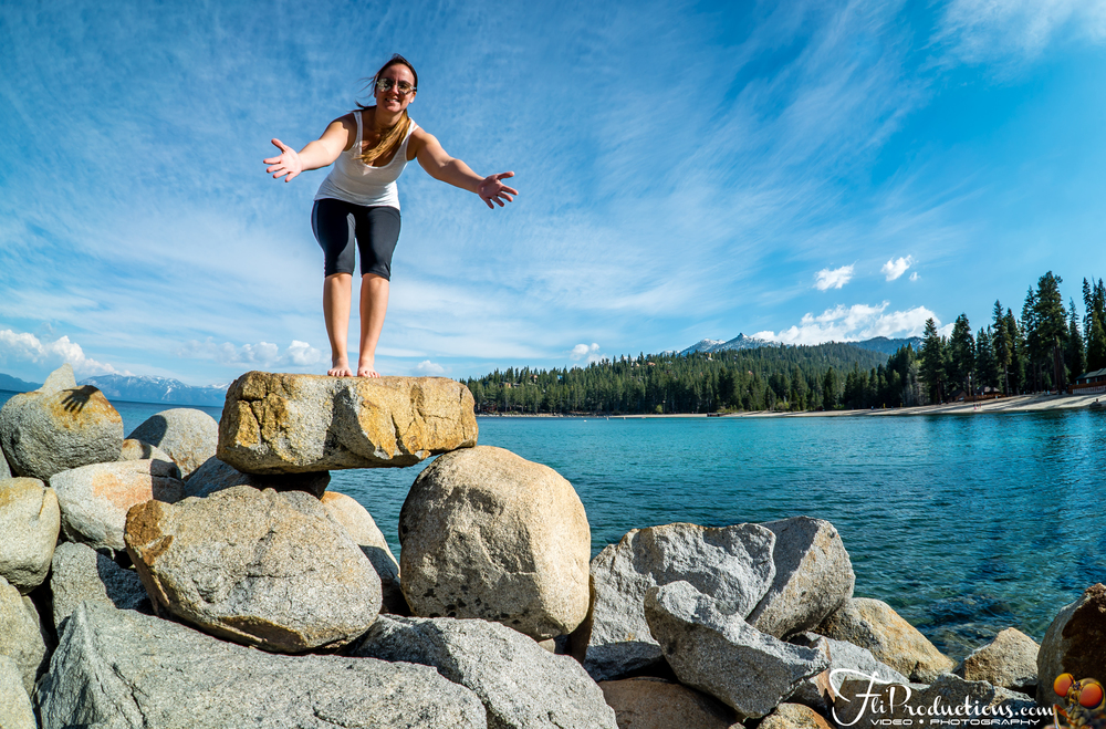 Lisa Bee welcoming you to come experience the Beauty of Lake Tahoe.