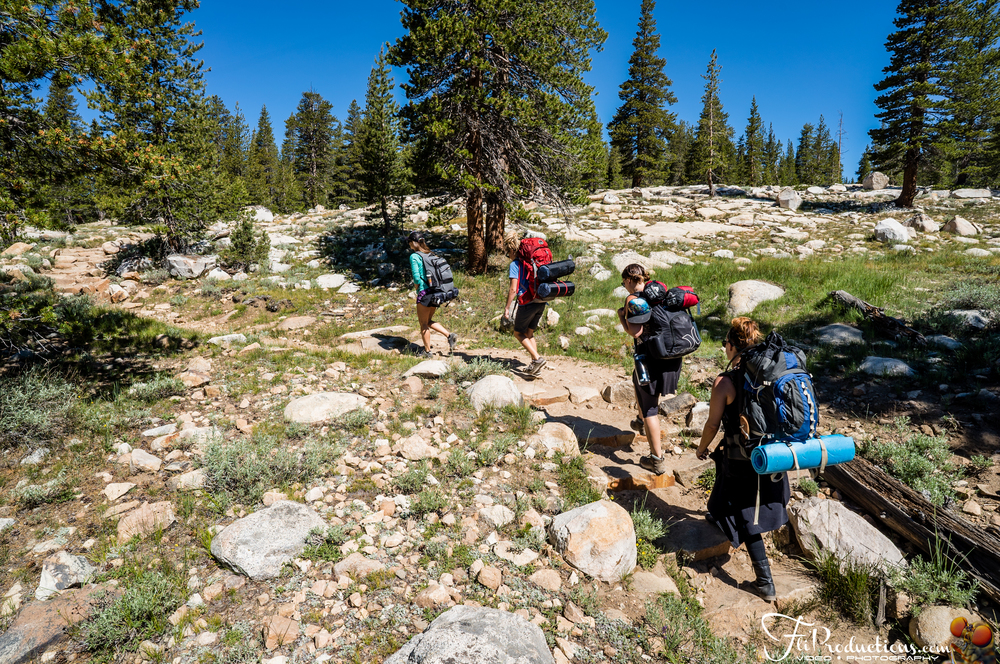 Beginning our journey deep into Tuolumne Meadows - Yosemite National Park