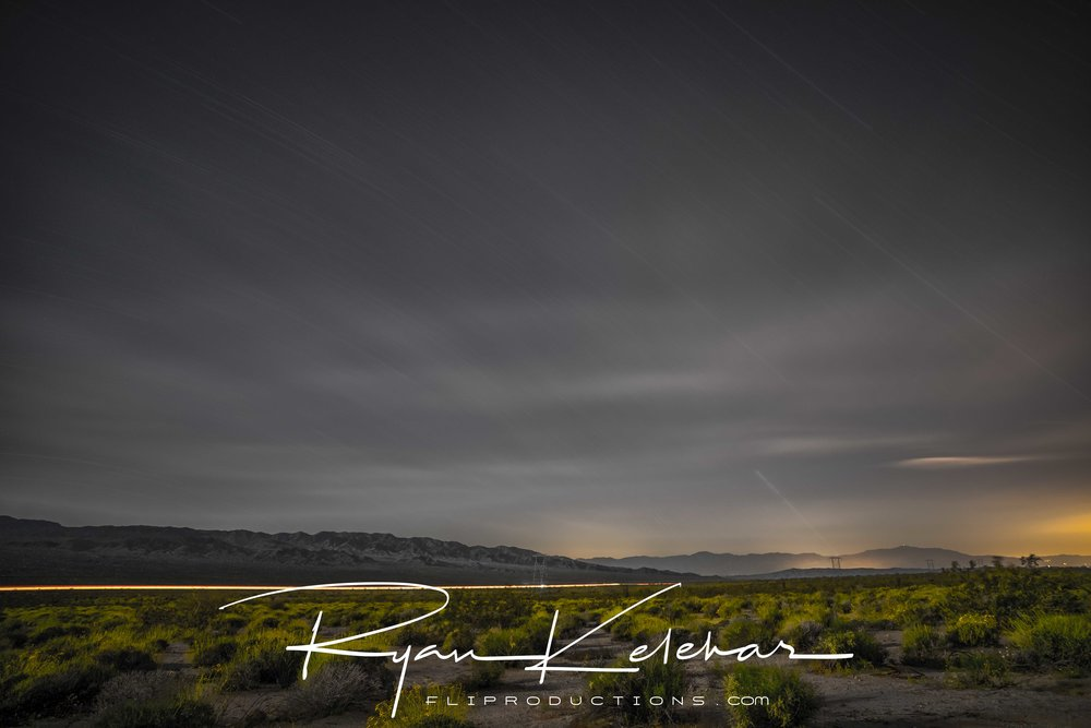 Long Exposure Night Photography, Joshua Tree National Park, CA