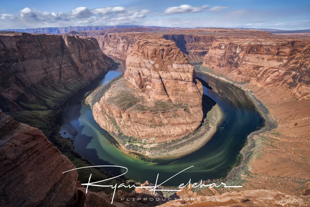 Image overlooking the Colorado River at Horseshoe Bend. Located