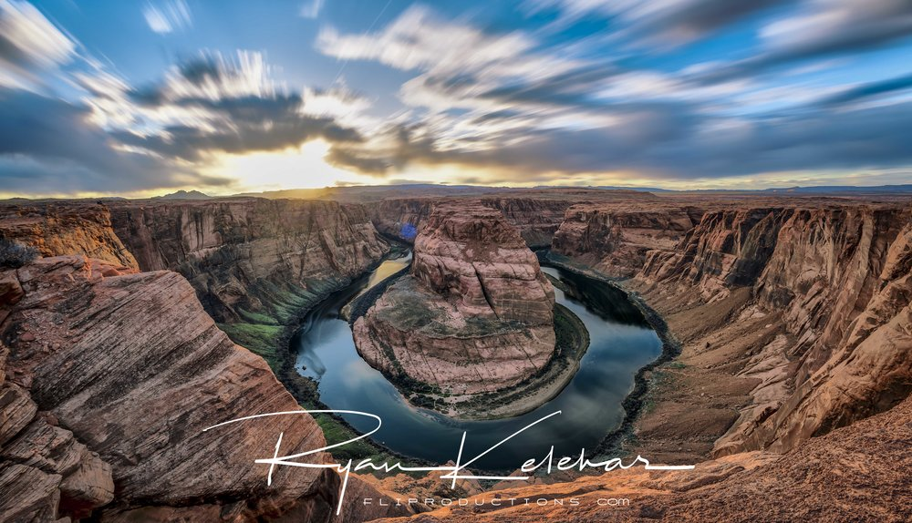 Epic Sunset Image overlooking the Colorado River at Horseshoe Be