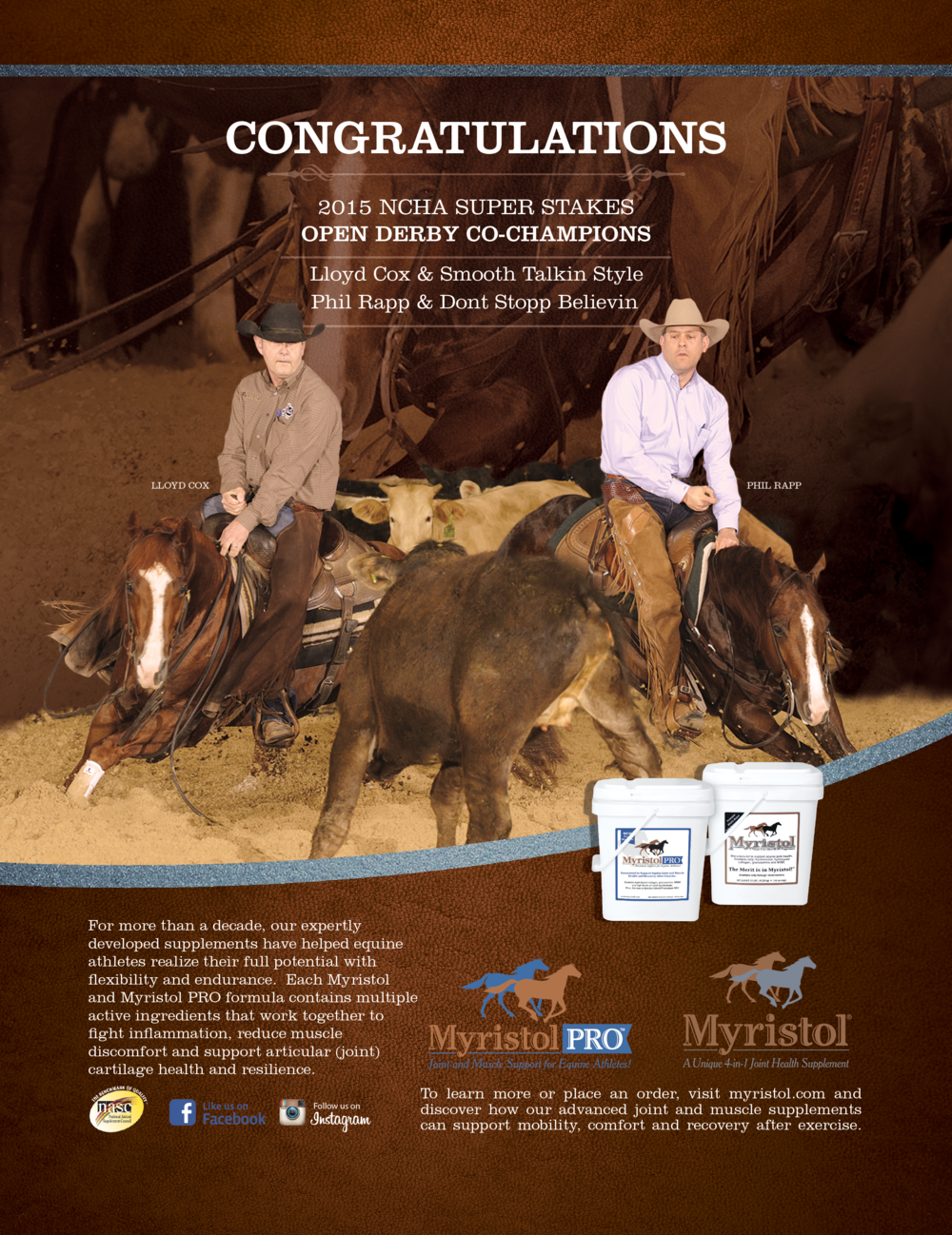 Myristol Cutting Horse Spotted Donkey Branding Ad