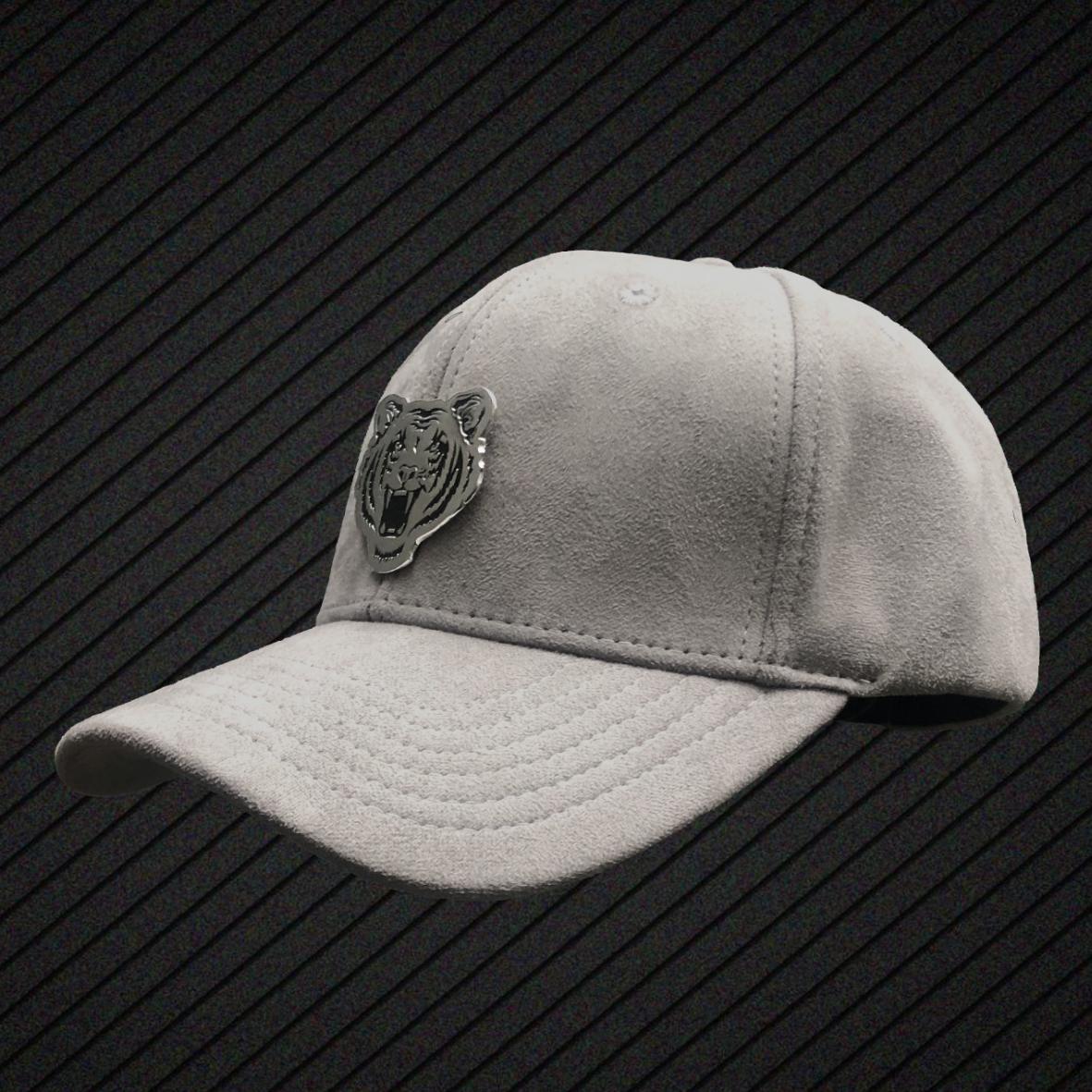 Ricalyce Arabian Grey Suede Baseball Cap — Ricalyce b04c3b469a3