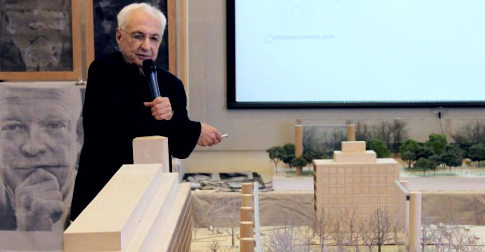 Frank Gehry presented his models for the physical memorial.