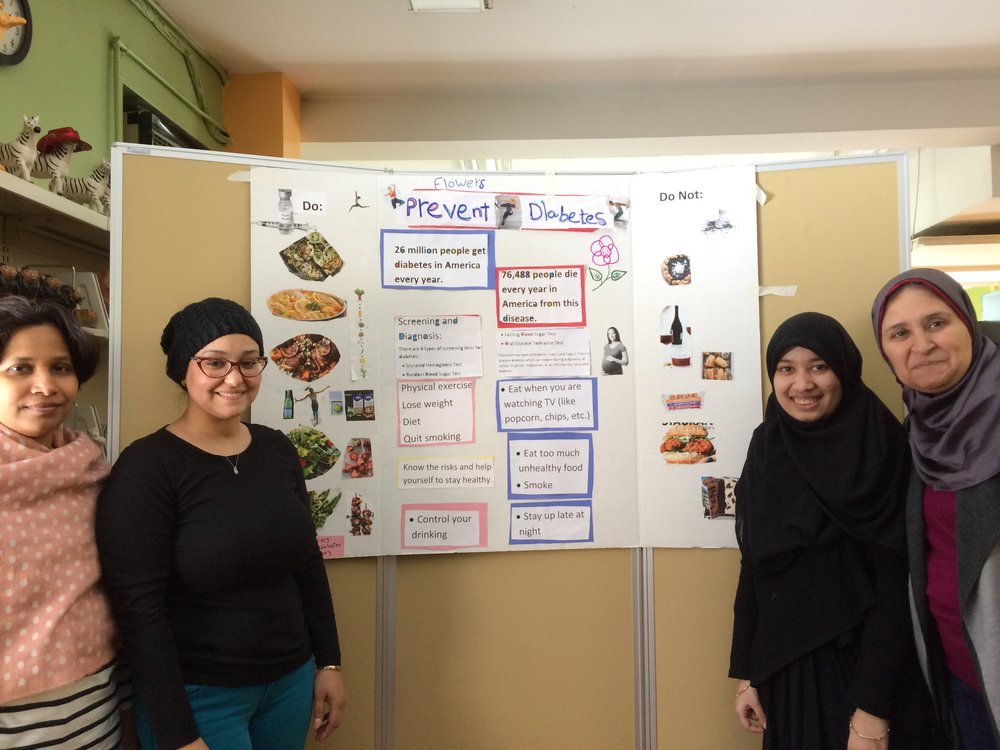 Students gave oral presentations about the chronic disease they researched, its symptoms, causes, and steps for diagnosis, treatment, and prevention.
