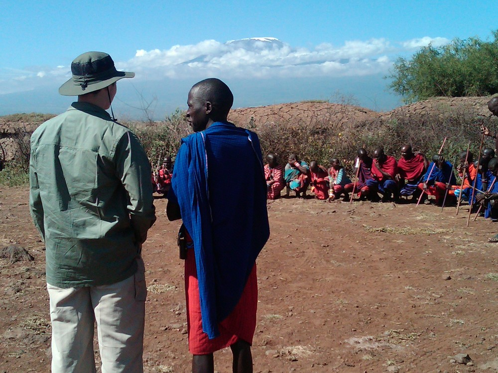 Safari Clothing & Maasai, Amboseli National Park, Kenya © Flyga Twiga LLC