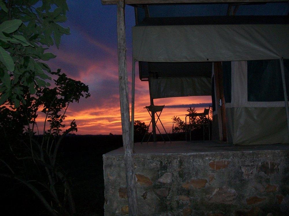 "Tented Banda, South Sudan © Flyga Twiga LLC  Home of the ""infamous"" Green Mamba!"