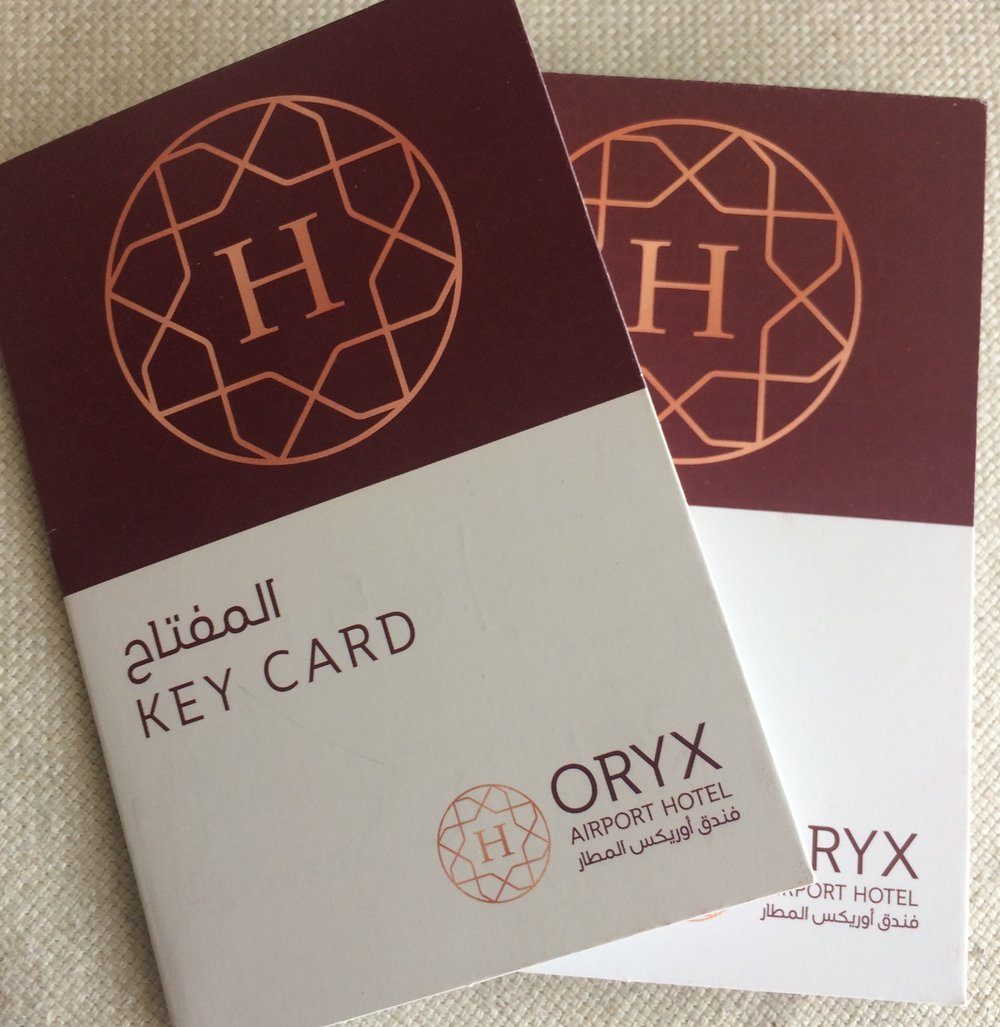 Key Card Covers Oryx Airport Hotel © Flyga Twiga LLC