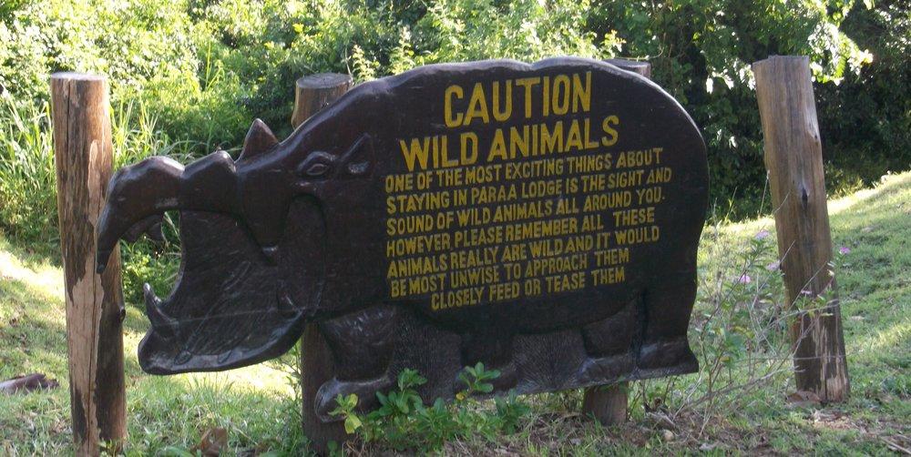 Warning Sign Uganda ©Flyga Twiga LLC