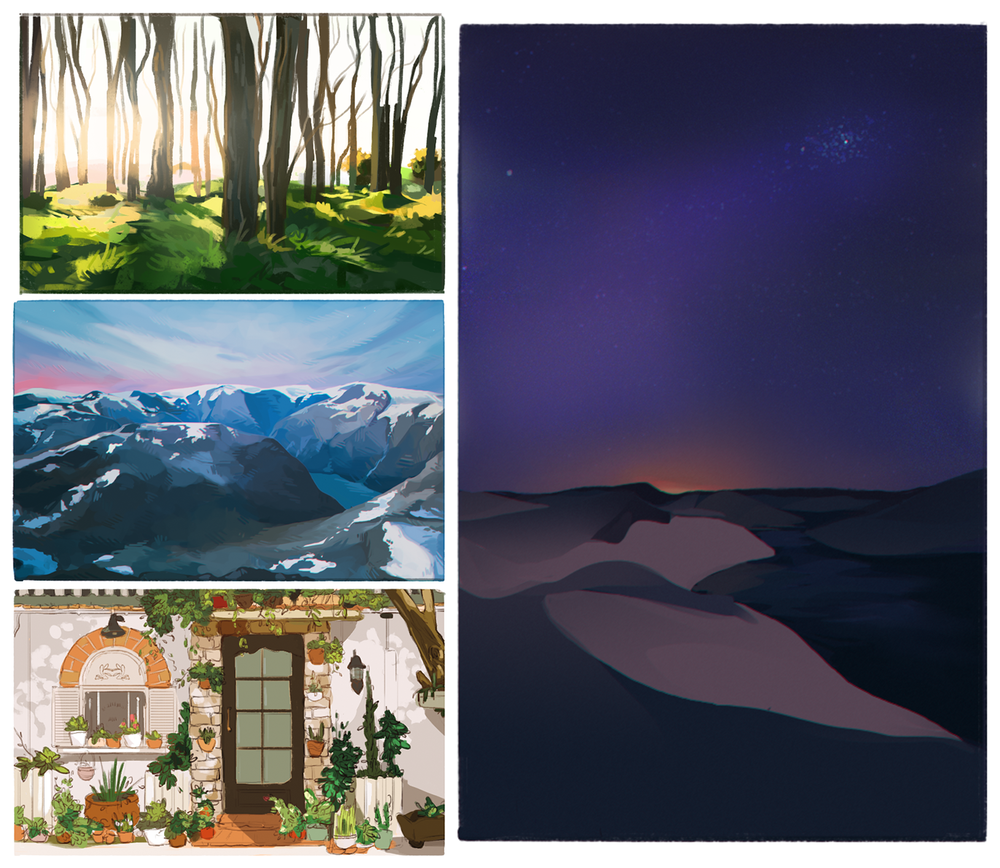 Personal work. 31 Environment Studies. In Progress.