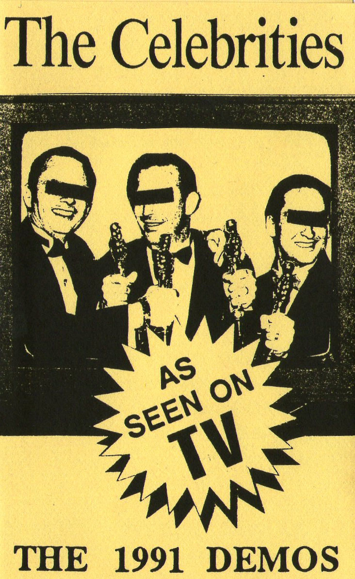 Cover art from  The Celebrities   '   As Seen on TV'     album available on the Thong 'n' Dance label.