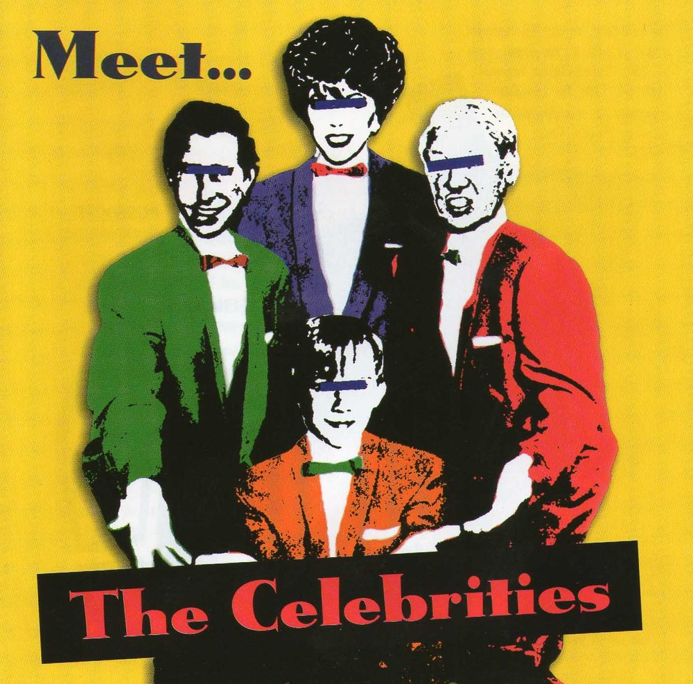 Album cover art from  ' Meet ...The Celebrities'  available on the Thong 'n' Dance label.