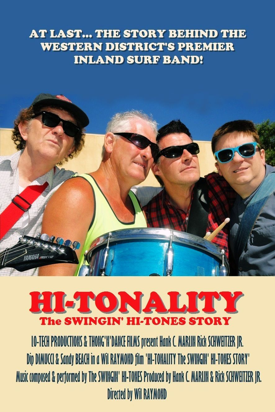 The poster promoting the documentary film  The Swinging Hi-Tones Story  which premieres later this year.