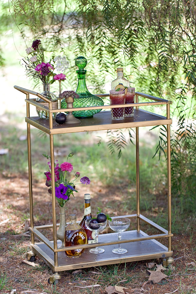 Bohemia  n beverage cart, photography by Katie Beverley.
