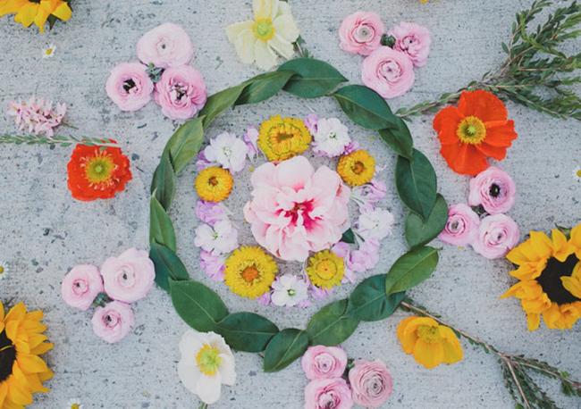 Compass Floral_Summer Solstice_Mandala