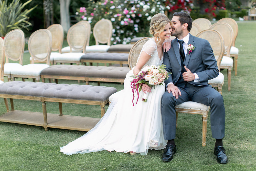 Blush & marsala wedding at the Park Hyatt Aviara by San Diego wedding florist, Compass Floral.