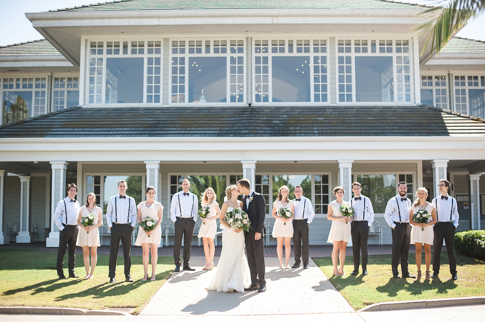 Carmel Mountain Ranch Country Club Blush & ivory garden romantic wedding by San Diego wedding florist, Compass Floral.