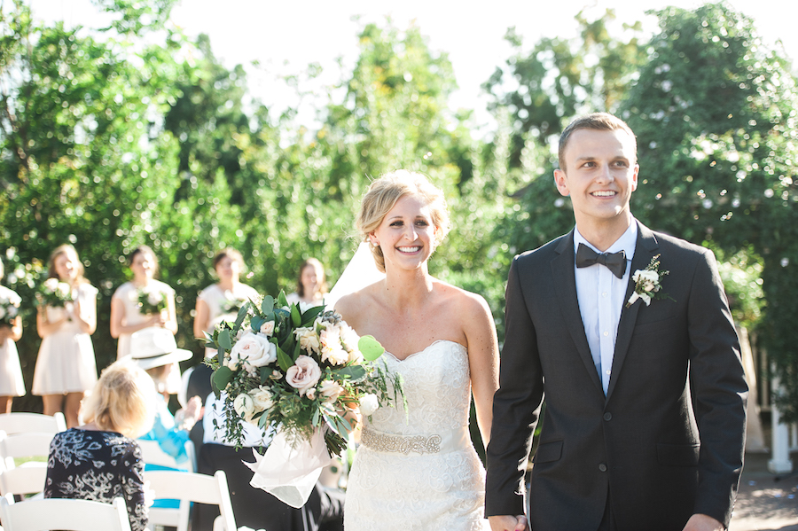 Blush & ivory garden romantic wedding by San Diego Florist, Compass Floral.   Brandi Welles Photography.