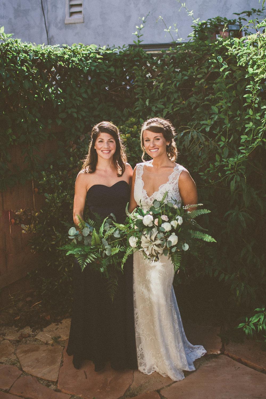 Bohemian bridesmaid bouquet  by San Diego wedding florist, Compass Floral.