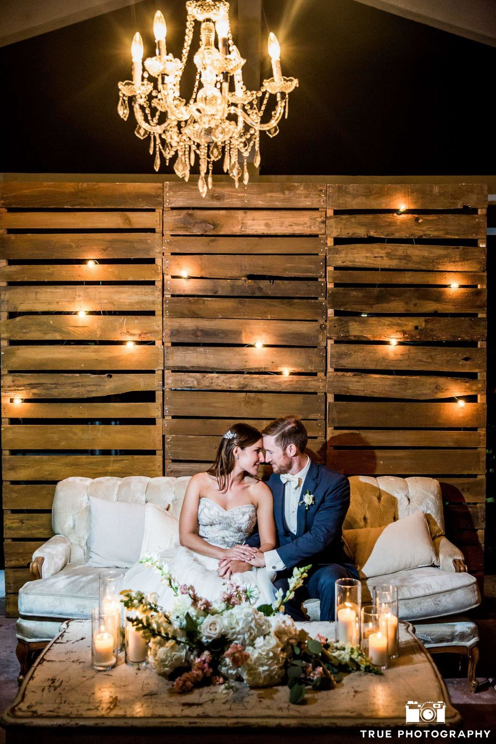 Garden romantic ivory & blush wedding by San Diego wedding florist, Compass Floral.