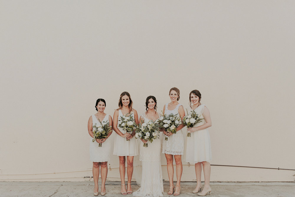 Green and white wedding   by San Diego wedding florist, Compass Floral.