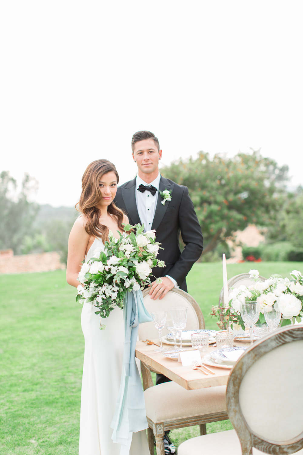 Bride & groom portrait | Rancho Valencia Weddings | Rancho Santa Fe | Compass Floral | Wedding Florist in San Diego and Southern California | Cavin Elizabeth Photography
