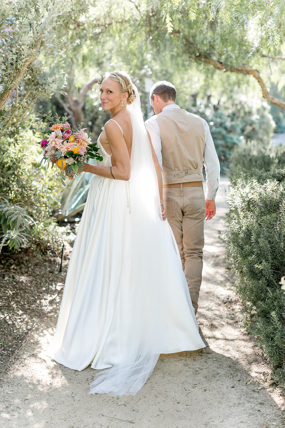 Desert bohemian wedding, flowers by Compass Floral | Estancia Hotel & Spa, La Jolla.