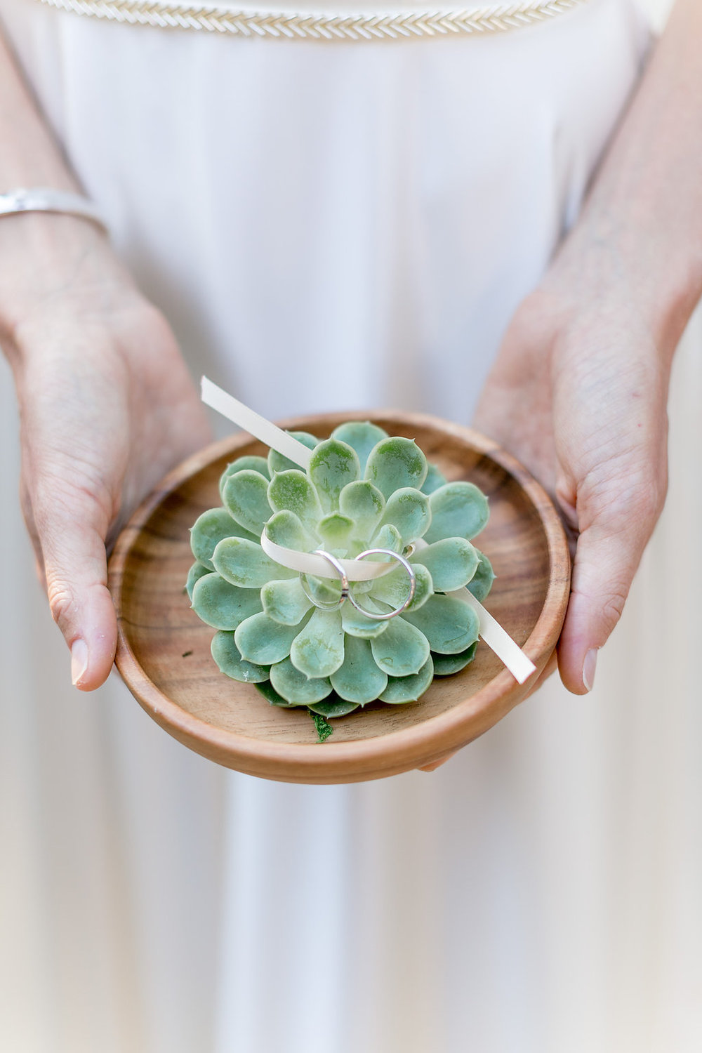 Succulent ring dish by Compass Floral | Estancia Hotel & Spa, La Jolla.