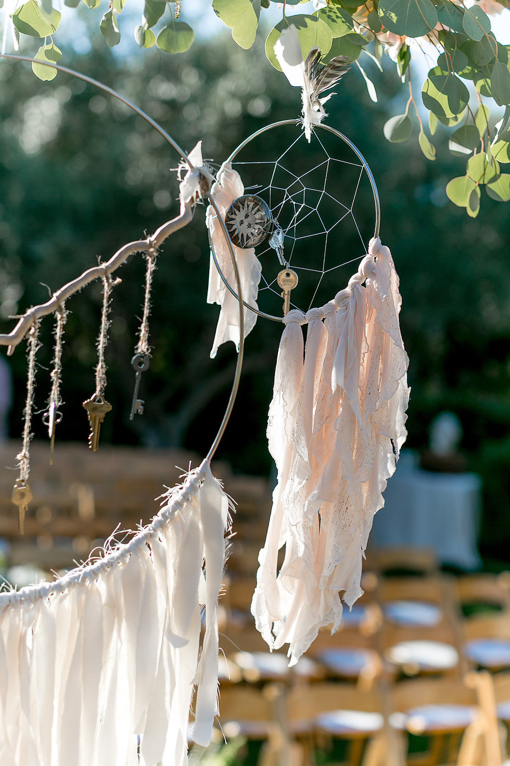 Key dream catchers by Rare Arrow Studio | Estancia Hotel & Spa, La Jolla.