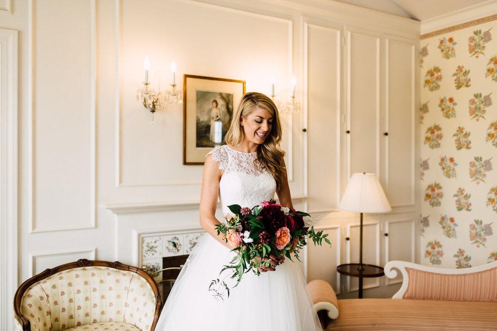 Modern, classic, colorful wedding florals by Compass Floral | Darlington House, La Jolla.
