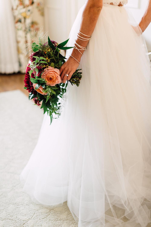 Moody bridal bouquet by Compass Floral | Darlington House, La Jolla.