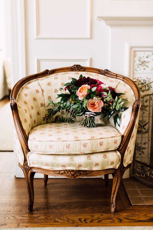 Moody garden rose bridal bouquet by Compass Floral | Darlington House, La Jolla.