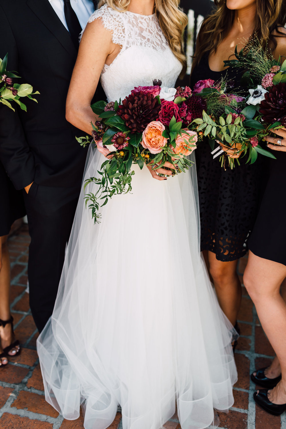 Modern, classic wedding with colorful florals by Compass Floral | Darlington House, La Jolla.