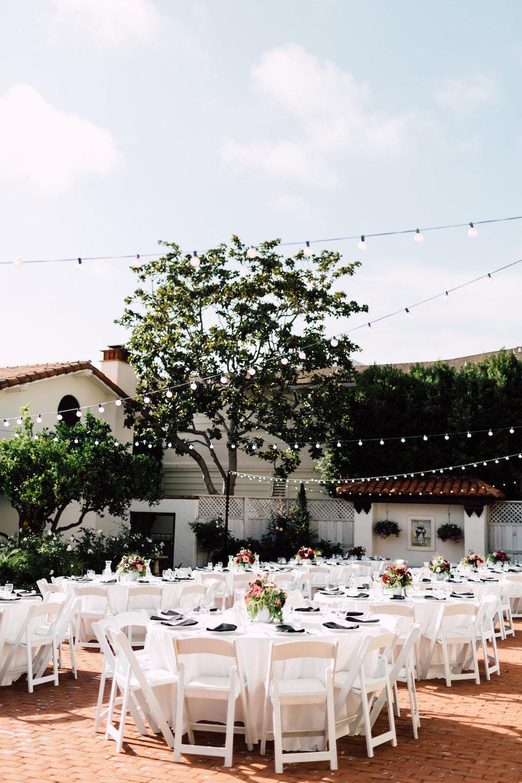 Darlington house wedding reception with florals by Compass Floral | Darlington House, La Jolla.