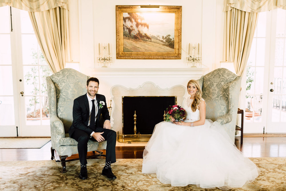 Modern, classic, colorful wedding with florals by Compass Floral | Darlington House, La Jolla.