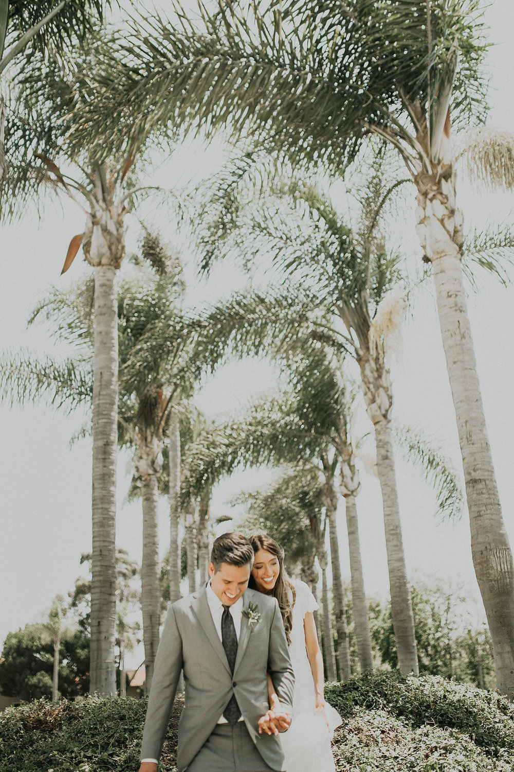 Classic, modern green and white wedding florals by Compass Floral | San Diego California Temple