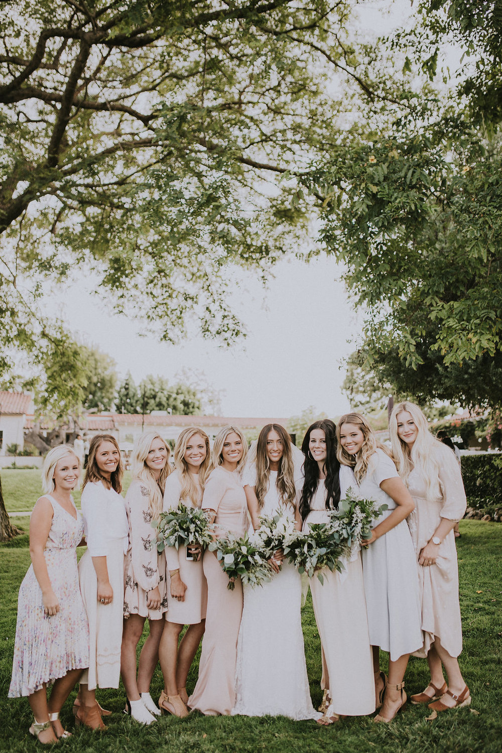 Ethereal green and white wedding  by Compass Floral | San Diego California Temple