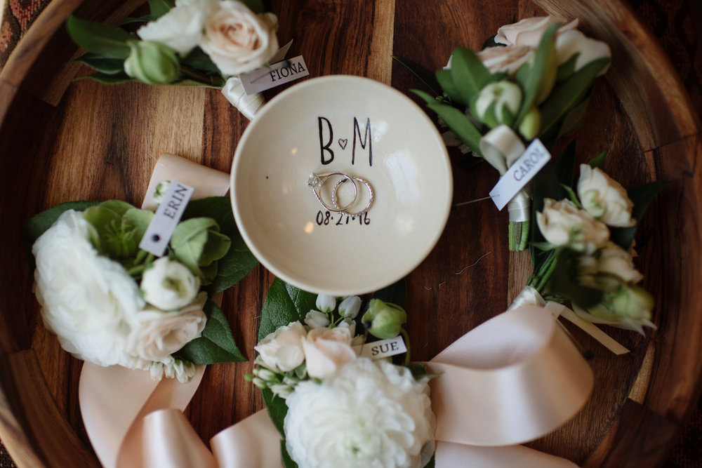 Wedding details by Compass Floral | Estancia Hotel & Spa, La Jolla