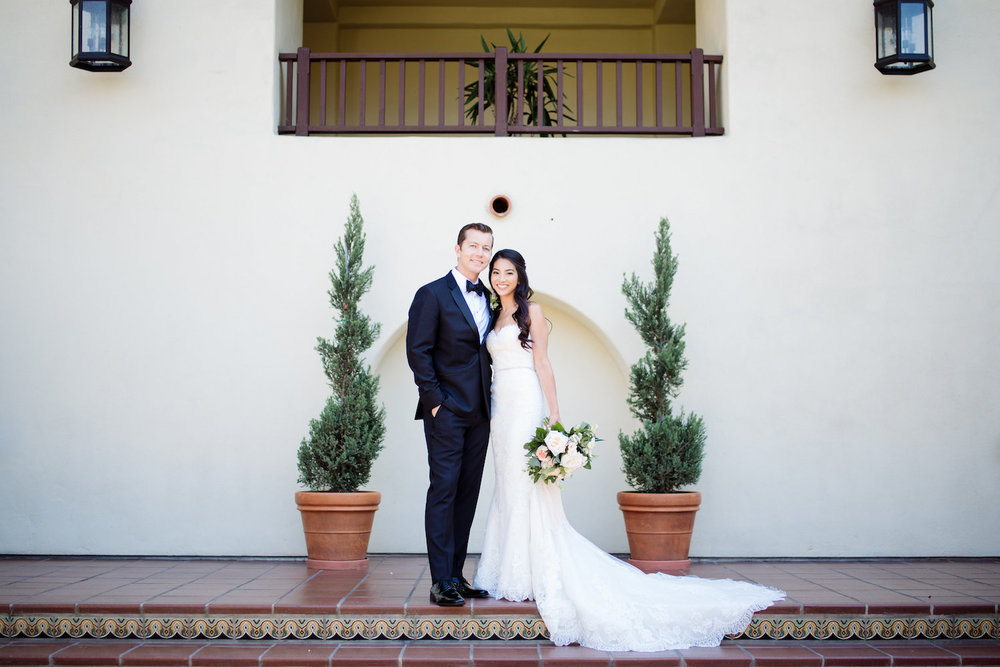 Classic, modern, garden wedding by Compass Floral | Estancia Hotel & Spa, La Jolla.