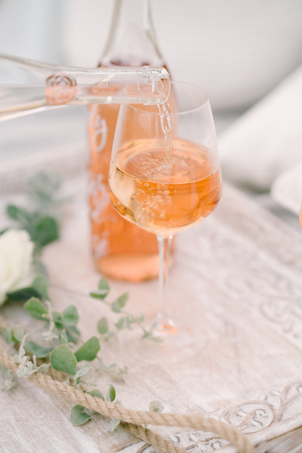 Beach & rose. Design & Planning // Events by Talissa Photographer // Garrett Richardson