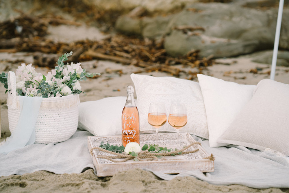 Bachelor contestant Sarah Vendal summer fun beach styled shoot. Bouquet by Compass Floral. Design & Planning // Events by Talissa Photographer // Garrett Richardson