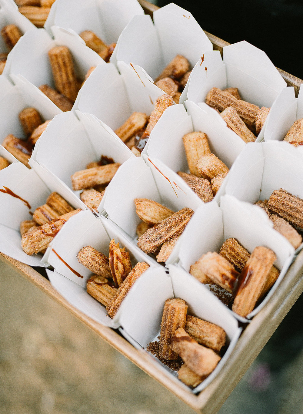 Churro wedding dessert | Fallbrook Treehouse | Compass Floral | Wedding Florist in San Diego and Southern California | Allie Lindsey Photography